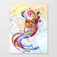 phoenix Canvas Prints featuring Phoenix by Nick La