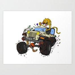 Off-road 4x4 Adventure SUV Art Print