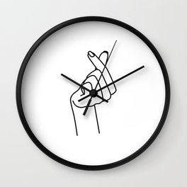 Love Finger Snap Wall Clock
