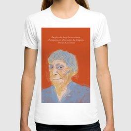 Ursula K. Le Guin portrait + quote T-shirt