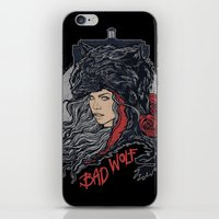 bad wolf iPhone & iPod Skins featuring Bad Wolf by zerobriant