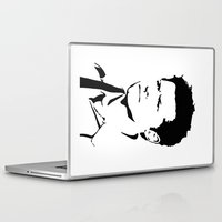 castiel Laptop & iPad Skins featuring castiel by poorbeautifuldean