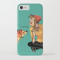 musa iPhone & iPod Cases featuring pet the dog by musa