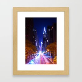 New York Night Life Framed Art Print
