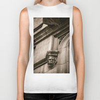 concrete Biker Tanks featuring Concrete Head by Cwenar