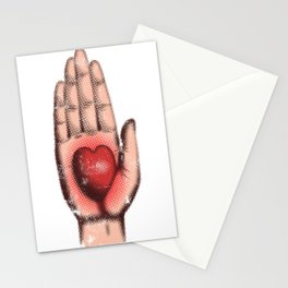 Heart in Hand Stationery Cards