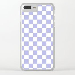 Gingham Soft Lavender Blush Checked Pattern Clear iPhone Case