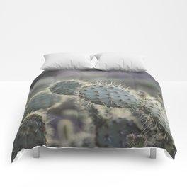 Sunset Cliffs Cactus Comforters