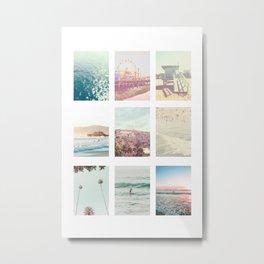 California Dream 9UP 9 Print Metal Print