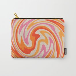 70s Retro Swirl Color Abstract Carry-All Pouch