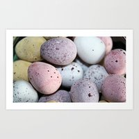 eggs Art Prints featuring Eggs! by Sara Messenger
