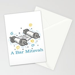 Bar Mitzvah with scroll Stationery Cards