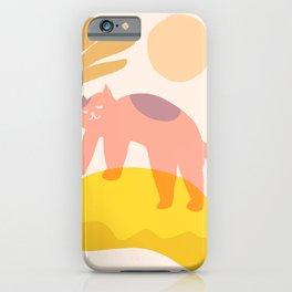 Abstraction_CAT_LOVE_LANDSCAPE_SUN_POP_ART_1214C iPhone Case