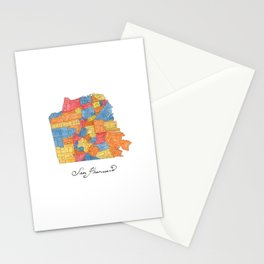 San Francisco Neighborhoods Stationery Cards