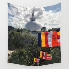 Temple on the Mountain Wall Tapestry