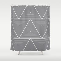 origami Shower Curtains featuring Origami by Leandro Pita