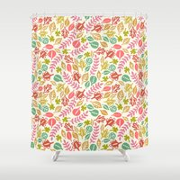 jungle Shower Curtains featuring Jungle by Kristin Nohe Juchs