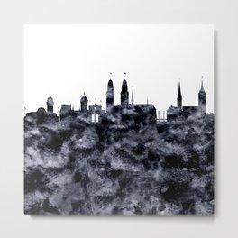 Zurich Skyline Switzerland Metal Print