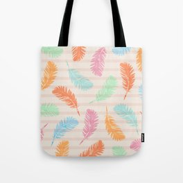 Dancing summer feathers Tote Bag
