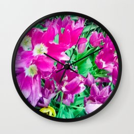 The beauty of the violet. Wall Clock