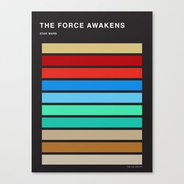 The colors of StarWars - The Force Awakens episode 7 Canvas Print