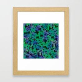 The Joker: HA HA HA Framed Art Print