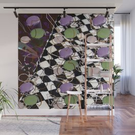 Checkerboard Pastel Montage Wall Mural