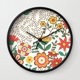 Romance Seamless Pattern Wall Clock
