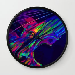 Neon Viola Pride Wall Clock