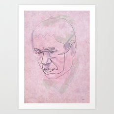 One line Takeshi Kitano Art Print