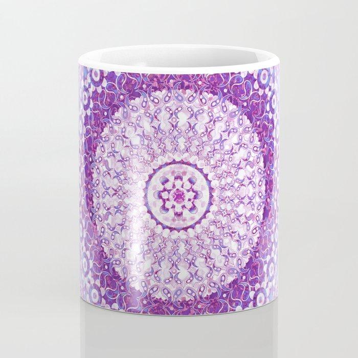 Orchid Tapestry Mandala Coffee Mug