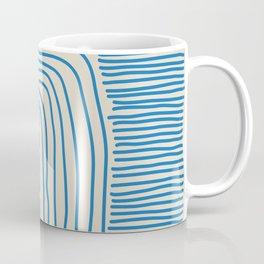 Digital Stitches thick beige + blue Coffee Mug