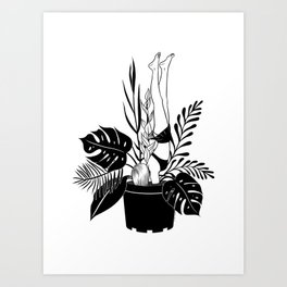 Never grow up Art Print