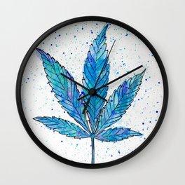 Canna Be Blue Wall Clock