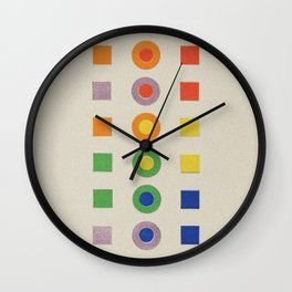 Chevreul Laws of Contrast of Colour, Plate VI, 1860, Remake, vintage wash Wall Clock