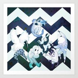 Midsummer Night Picnic 3 Art Print