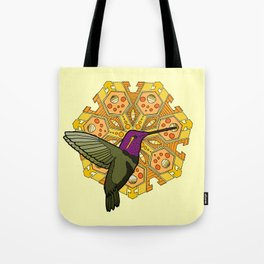 hummingbird and heptagon mandala Tote Bag