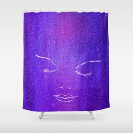 Mysterious Woman Shower Curtain