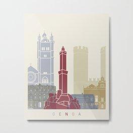 Genoa skyline poster Metal Print