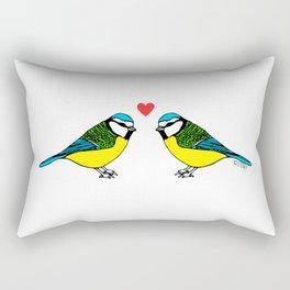 Bluetits in Love Rectangular Pillow