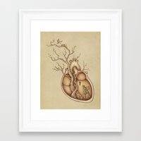 bird Framed Art Prints featuring Tree of Life by Enkel Dika