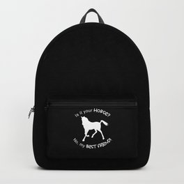 Horse Best Friend Horses Rider Riding Pony Gifts Backpack