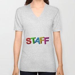 Colorful STAFF Unisex V-Neck