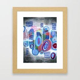 Abstract Drips Framed Art Print