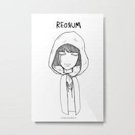 Redrum 01 Raina Metal Print