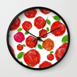 Spanish Forest Apples Wall Clock