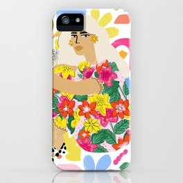 He loves me, he loves me not iPhone Case