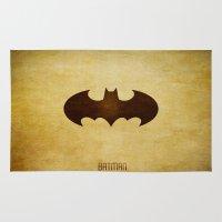 bat man Area & Throw Rugs featuring Bat Man by whosyourdeddy