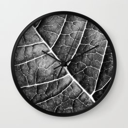 LEAF STRUCTURE no2b BLACK AND WHITE Wall Clock
