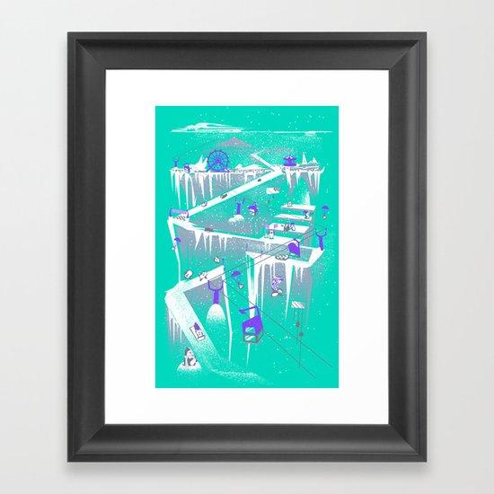 Penguins (flat, palette swap) Framed Art Print